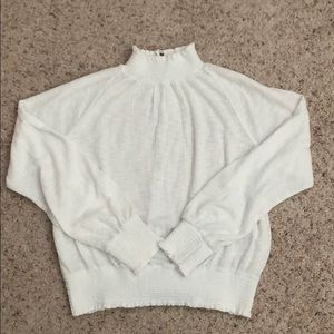Free people white long sleeve top